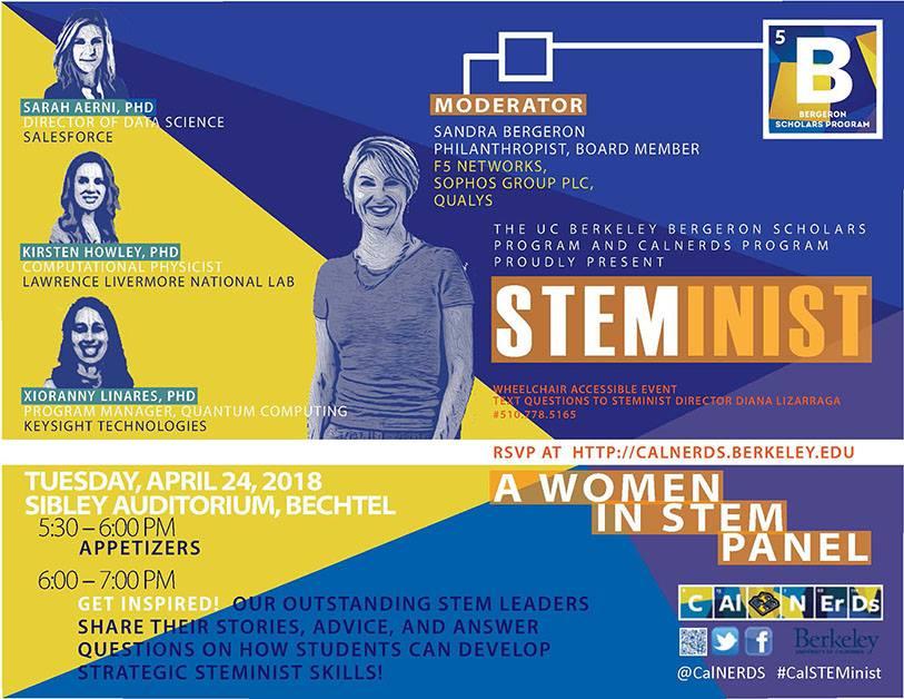 2018 STEMinist Women in Tech Panel Flyer