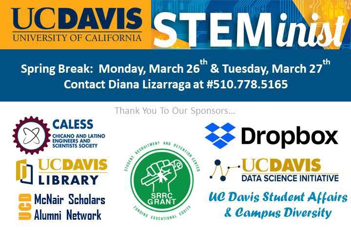 Banner of UC Davis STEMinist Bootcamp Sponsors