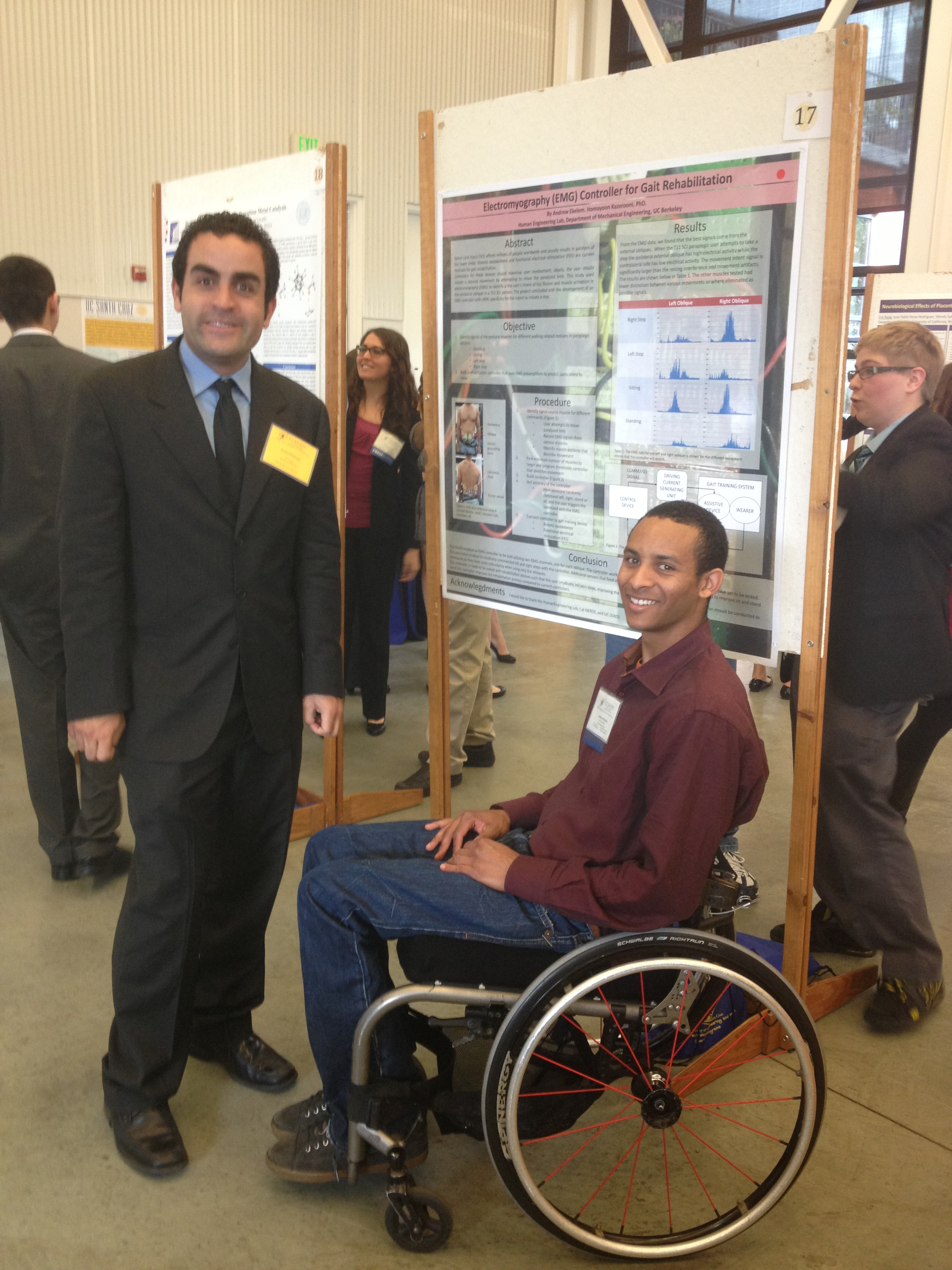 UC LEAD Scholar Andrew presenting his research at statewide symposium