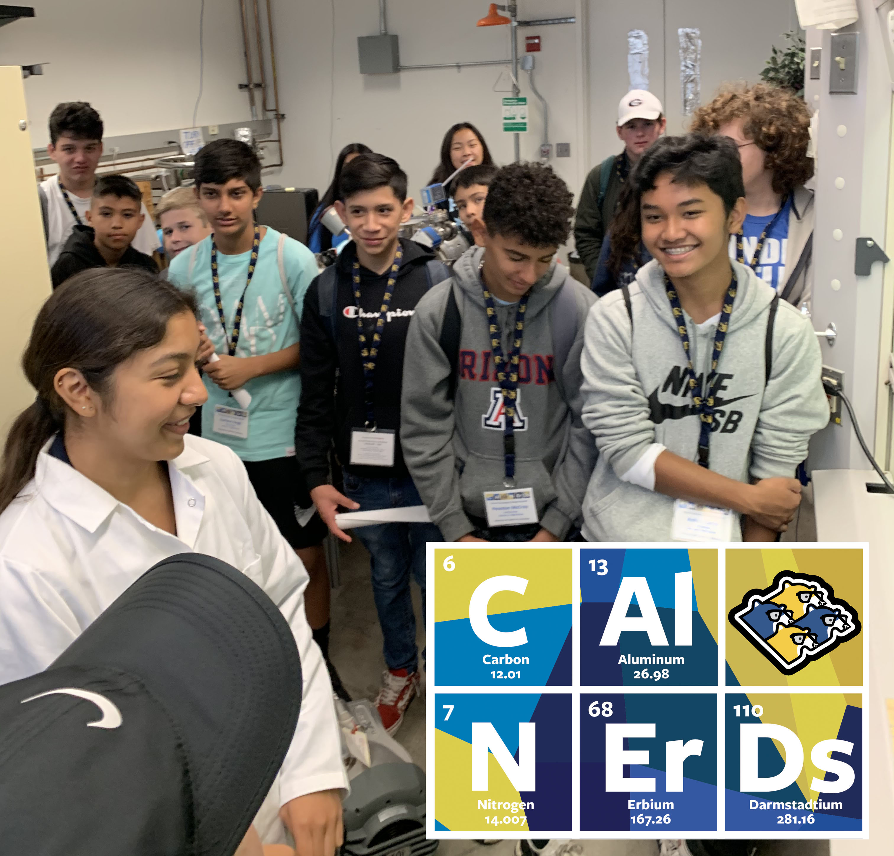 November 2019 Cal NERDS Research Scholar Diana shares her research with AVID kids